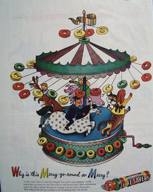 Five Flavors Life Savers Merry Go Round Ad 1946