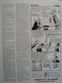 Kelloggs All Bran Mutt And Jeff Get More Bulk Ad 1938