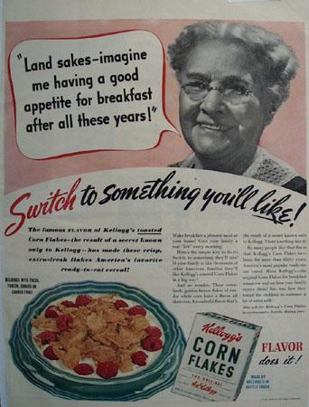 Kelloggs Corn Flakes Switch To Something Ad 1940