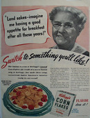 Kelloggs Corn Flakes Switch To Something Ad 1940