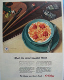 Kellogg Cereal What Artist Could Not Paint Ad 1944