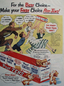 Post Tens For The Best Choice Ad 1951