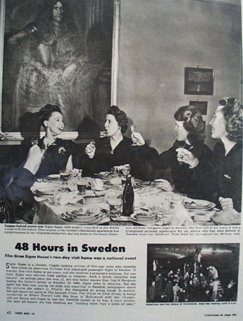 Signe Hasso 48 Hours in Sweden Article Picture 1946