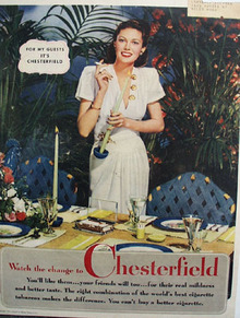 Chesterfield Cigarettes Watch the Change 1944 Ad