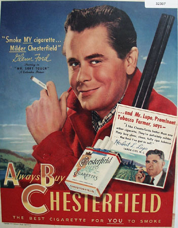 Chesterfield Cigarette Mr. Soft Touch 1949 Ad