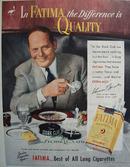 Fatima Cigarette Stork Club 1951 Ad