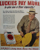 Lucky Strike Cigarette L. Murray Mangum 1949 Ad