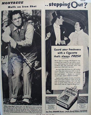 Lorillard Old Gold Cigarettes 1938 Ad