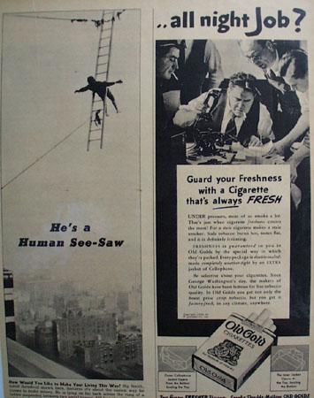 P. Lorillard Co, Old Gold Cigarette 1938 Ad
