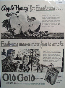 P. Lorillard Co. Old Gold Cigarettes 1943 Ad
