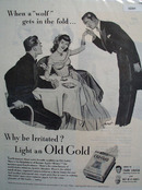 Old Gold Cigarettes Wolf In The Fold 1946 Ad