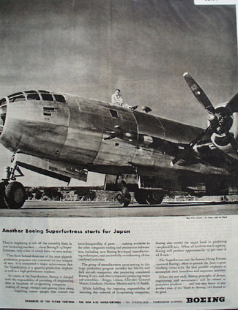 Boeing B 29 Superfortress Airplane 1944 Ad
