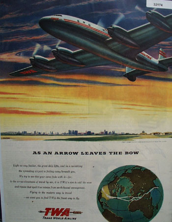 Trans World Airline Constellation 1946 Ad