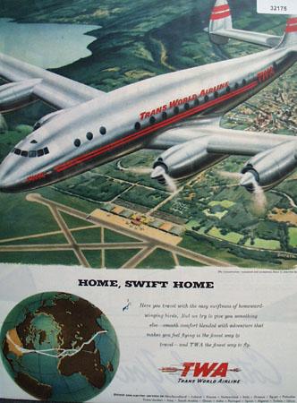 TWA Airline Home Swift Home 1946 Ad