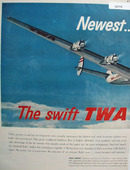 TWA Fly The Finest 1952 Ad
