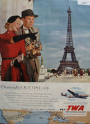 Trans World Airlines Eiffel Tower 1953 Ad