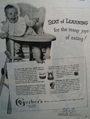 Gerbers Baby Food Seat of Learning 1950 Ad