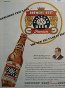 Brewers Best Premium Beer 1947 Ad