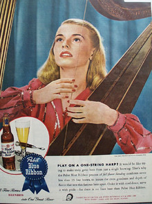 Pabst Blue Ribbon Beer Harp 1945 Ad