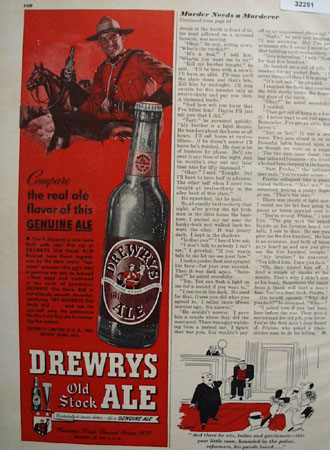 Drewerys Old Stock Ale 1948 Ad