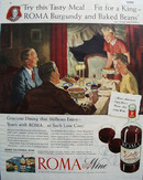 Roma Estate wine Elsa Maxwell 1946 Ad