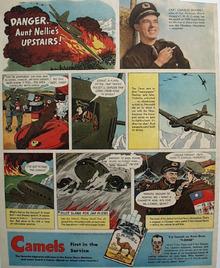 Camel Cigarettes Capt. Charles Sharkey 1944 Ad