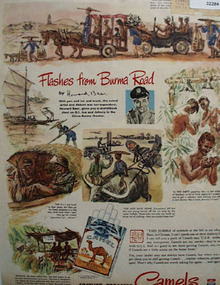 Camel Cigarettes Flashes From Burma Road 1945 Ad