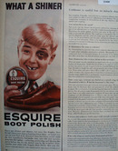 Esquire Boot Polish Black Eye 1956 Ad
