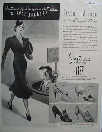 Selby Shoe Style EEZ 1937 Ad