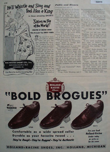 Holland Racine Shoes Bold Brogues 1948 Ad