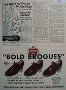 Holland Racine Shoes Bold Brogues 1948 Ad