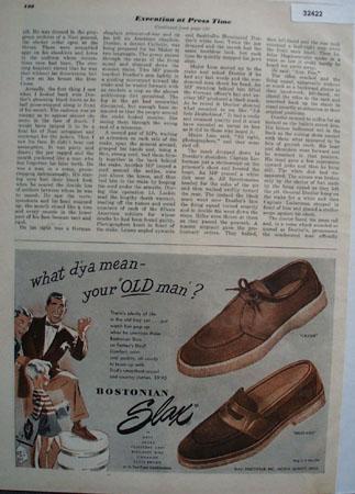 Bostonian Slax Footwear 1948 Ad