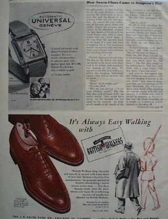 British Walkers Easy Walking 1948 Ad