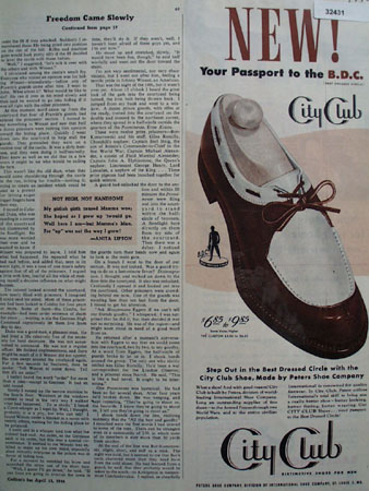 City Club Distinctive Shoes For Men 1946 Ad