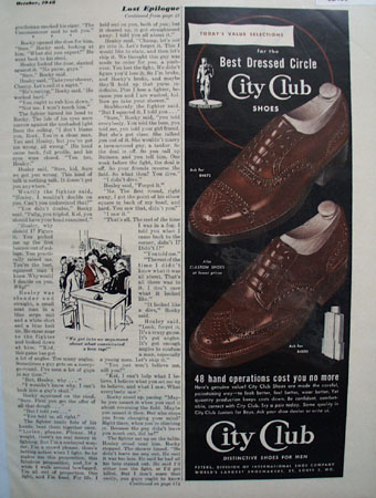 City Club Shoes Todays Value Selections 1948 Ad