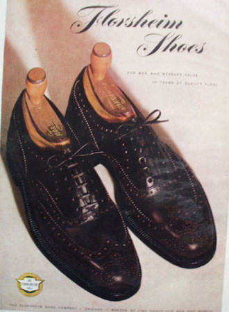 Florsheim Shoes Value and Quality 1947 Ad