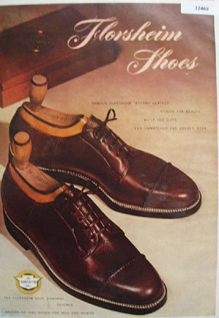 Florsheim Shoes Stormy Leather 1948 Ad