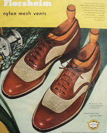 Florsheim Shoes Mesh Vents 1950 Ad