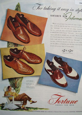 Fortune Shoes for Men Informals 1946 Ad