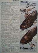 Mansfield Shoes In Step To The Minute 1947 Ad