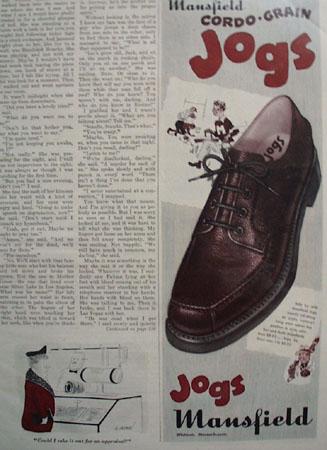 Mansfield Shoes Cordo Grain 1948 Ad