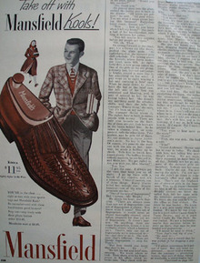 Mansfield Shoes Cucumber cool 1950 Ad