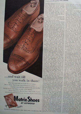 Matrix Shoes by Heywood Leather Footprint 1947 Ad