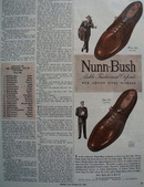 Nunn Bush Shoes Added Style Mileage 1944 Ad