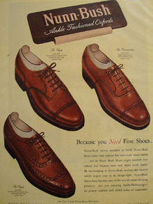 Nunn Bush Shoes Fine Shoes 1947 Ad