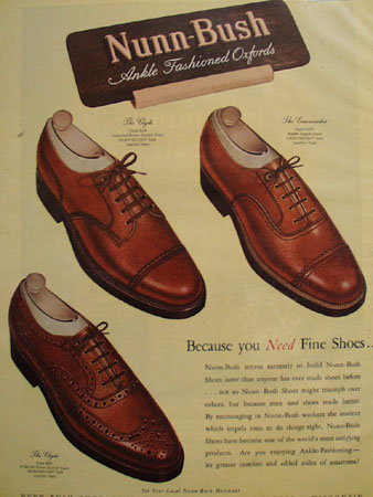 Nunn Bush Shoes Fine Shoes 1947 Ad