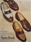 Nunn Bush Shoes Timeless Slip Ons 1948 Ad