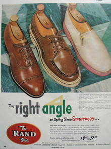 The Rand Shoe Right Angle 1953 Ad