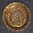 Small Brass Plate with Grapes and Cards