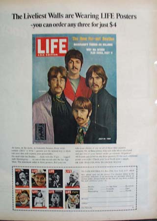 Life Poster Featuring Beatles Ad 1968